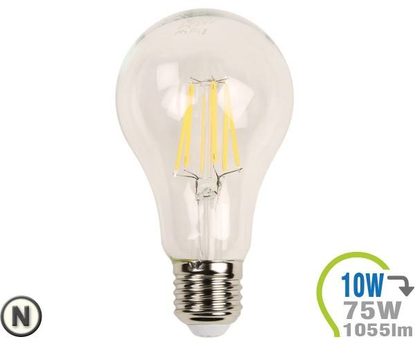 E27 LED Lampe 10W Filament A67 Neutralweiß