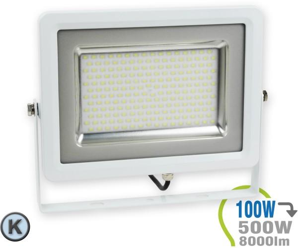 LED Strahler 100W SMD Slim Kaltweiß