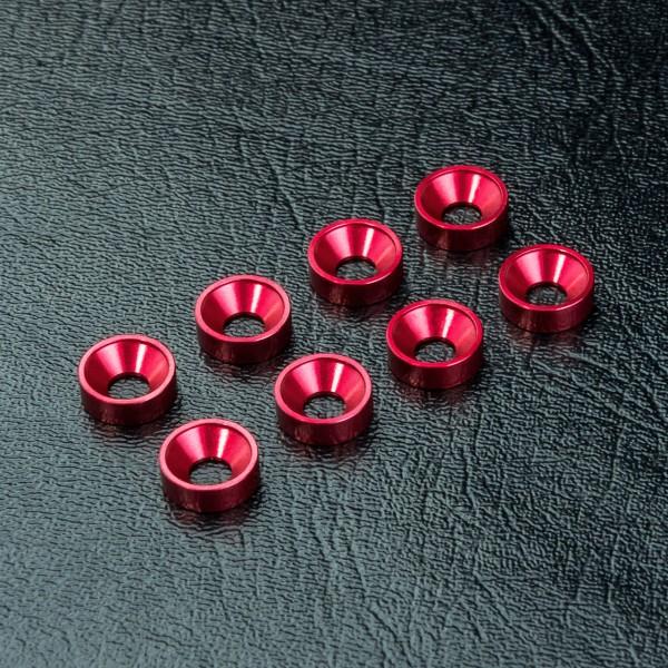 Unterlegscheibe für Senkkopf Alu red (8 Stück)