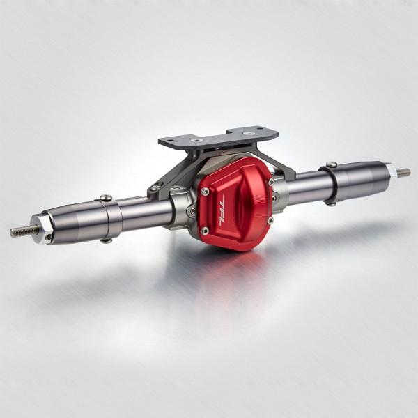 Antriebseinheit Hinten komplett V1 Rot für Axial SCX 10