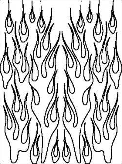 Airbrush Maske Flames
