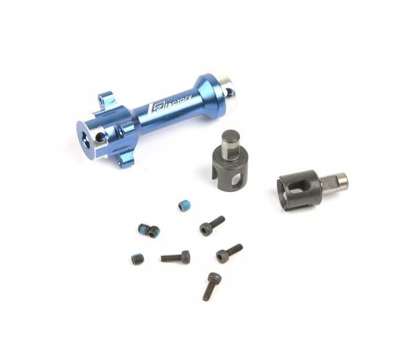 G4 Alum. Front Solid Axle Set Blau