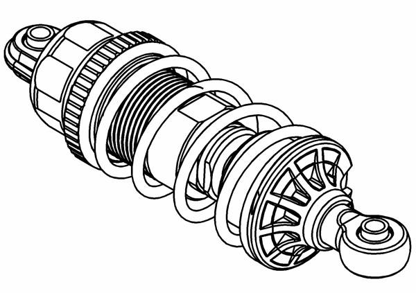 Stoßdämpfer Set XS5 montiert Vorne / Hinten