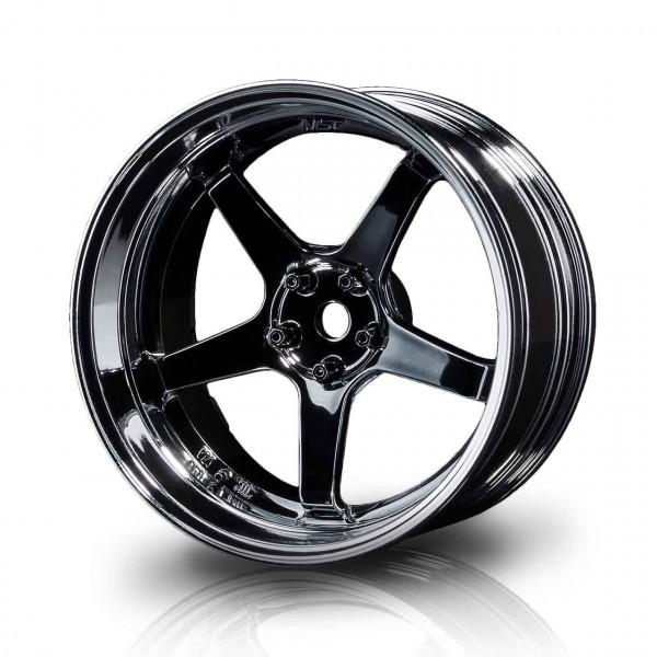 Drift Felge GT Silber-Schwarzglanz Offset verstellbar (4)