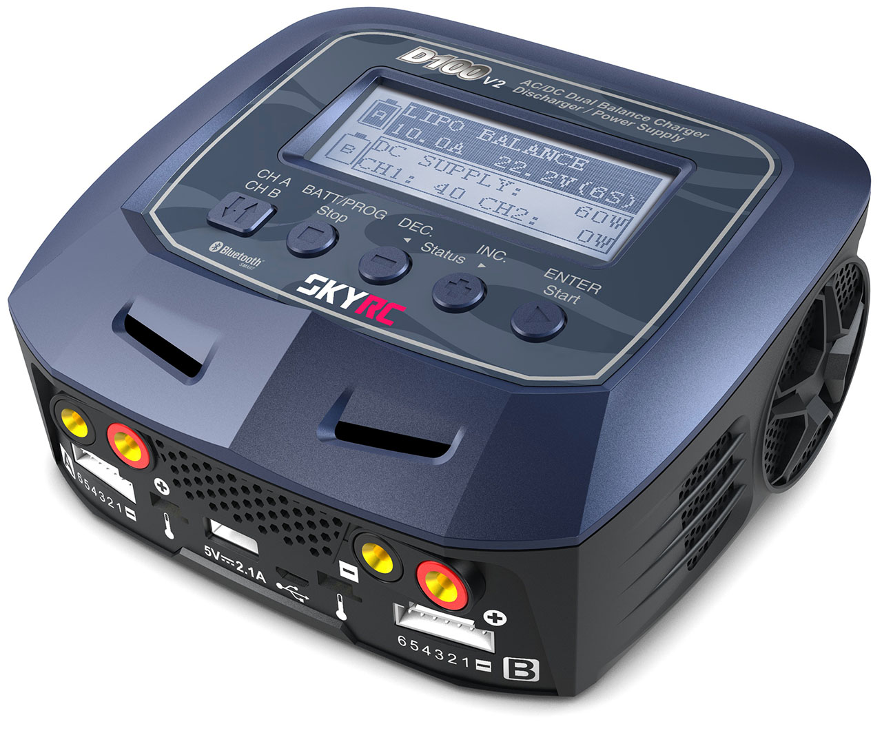 SKYRC Ladegerät Quattro Micro Battery Charger AC//DC 4x1s LiPo 1A