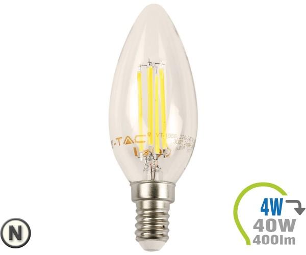 E14 LED Kerze 4W Filament Neutralweiß