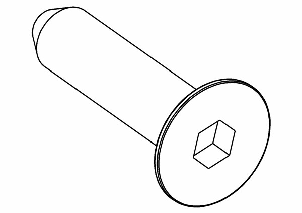 Senkkopf Innensechskantschraube M6x25 mm