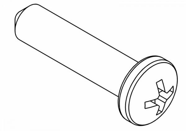 Rundkopf PH1 Schneidschraube 3x13 mm