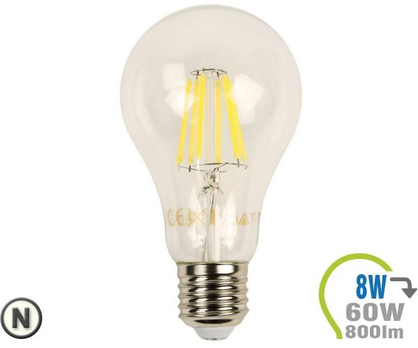 E27 LED Lampe 8W Filament A67 Neutralweiß