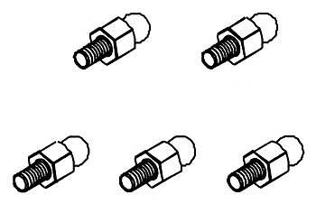 Kugelkopf 5mm mit hohen Ansatz (5 Stk)
