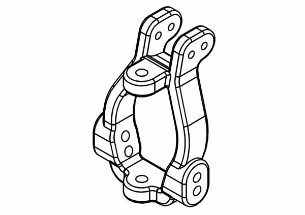 Caster Block / C-Hub Set 0 Grad L/R (Optional)