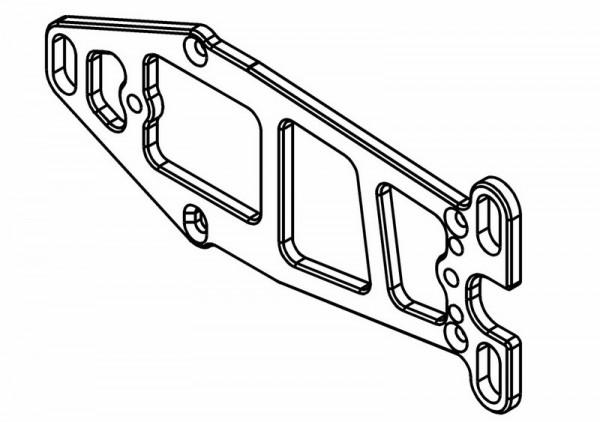 Motorträger Platte Lightweight 7075 Aluminium