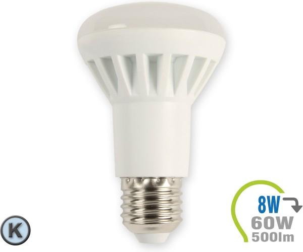 E27 LED Lampe 8W Spot R63 Kaltweiß