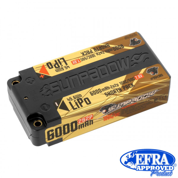 LiPo Akku HV 6000mAh 100C/50C 2s Competition Shorty 4mm Buch