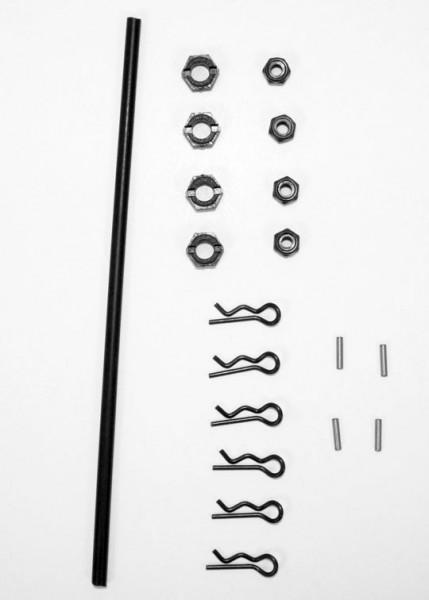Radmitnehmer, Splinte, Antennenrohr (Animus SC/TR)