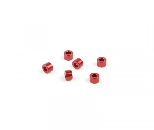 4x6mm Distanzstück - Rot (6Stk.)