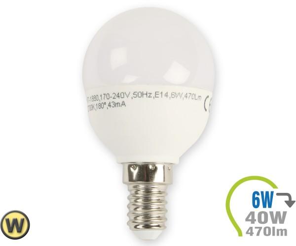 E14 LED Lampe 6W P45 Warmweiß