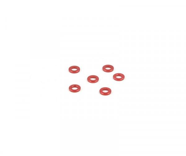 1x6mm Distanzstück - Rot (6Stk.)
