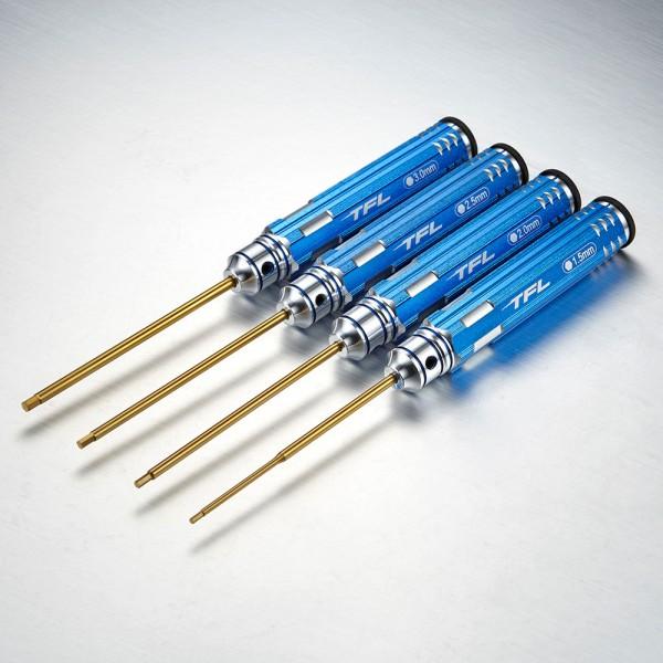 Innensechskantschlüssel Set 1,5/2,0/2,5/3,0mm Blau