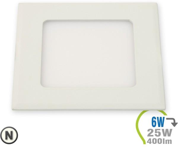 LED Paneel Einbauleuchte Premium Serie 6W Eckig Neutralweiß