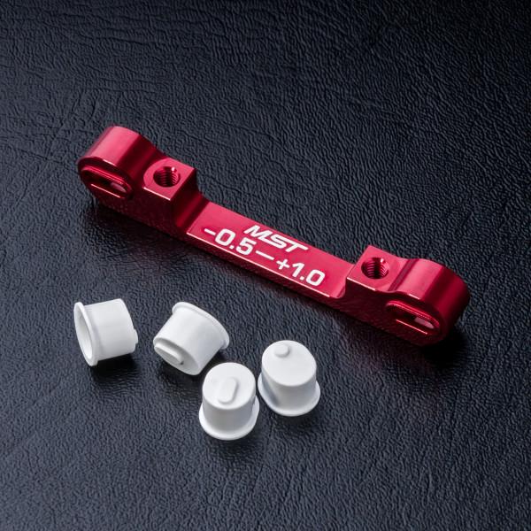 Adjustable alum. suspension mount (-0.5-+1.0) (red)