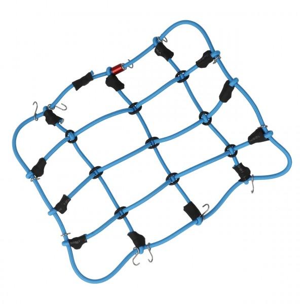 Gepäcknetz mit Haken Blau (120mm x 80mm)