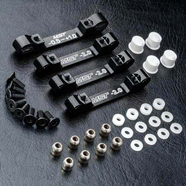 RMX 2.0 S Alum. suspension mount set (black)