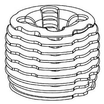 Zylinderkopf für 2,5ccm