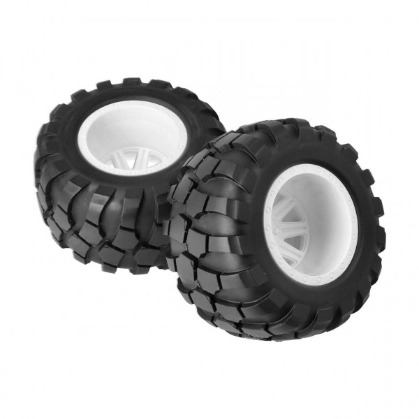 Wheel & Tire Glued (White)