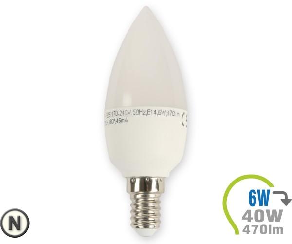 E14 LED Kerze 6W Neutralweiß