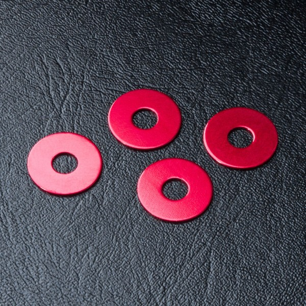 Radmitnehmer Distanzscheibe Alu 0.5mm rot (4 Stück)