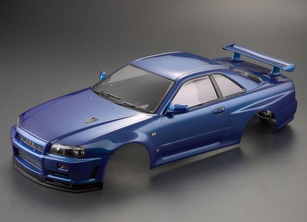Nissan Skyline R34 Karosserie Metallic Blau 195mm RTU