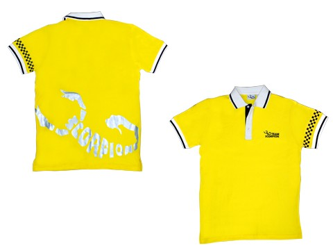 Scorpion Polo Shirt (Yellow-M)