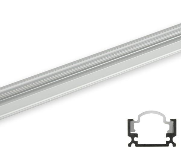 Aluminum Profil schmal runde Abdeckung transparent