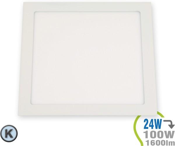 LED Paneel Einbauleuchte Premium Serie 24W Eckig Kaltweiß