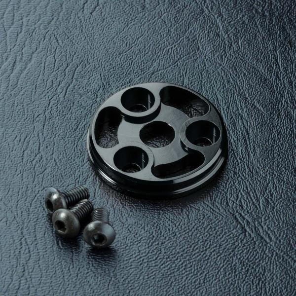 Hauptzahnrad Gegenplatte Aluminium schwarz