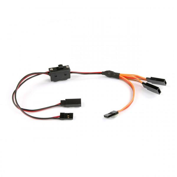 Schalter mit Ladekabel & Y-Servoverbindung für JR