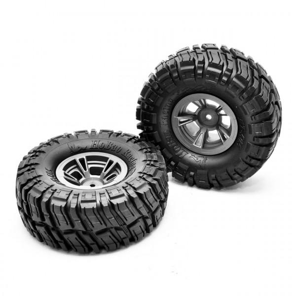 """Reifen mit Felgen 1.9"""" verklebt (2 Stück)"""