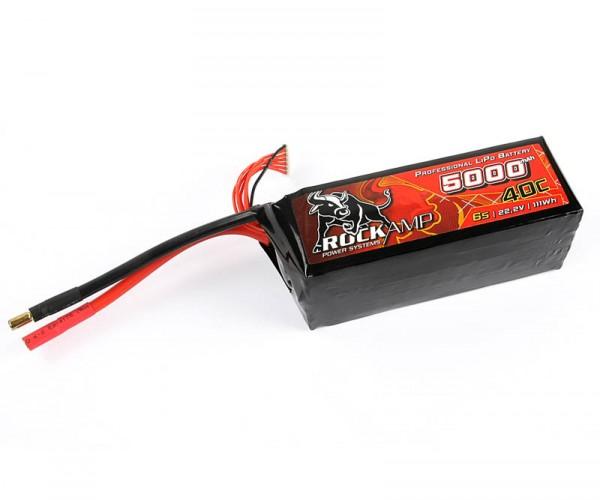 LiPo Akku 5000mAh 6S 40C 5,5mm (55x50x145)