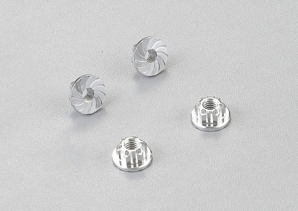 Radmuttern Aluminium Silber (4 Stk)