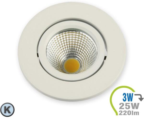 LED Einbauleuchte 3W Rund verstellbar Kaltweiß