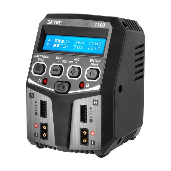 T100 AC Ladegerät LiPo 2-4s 5A 2x50W