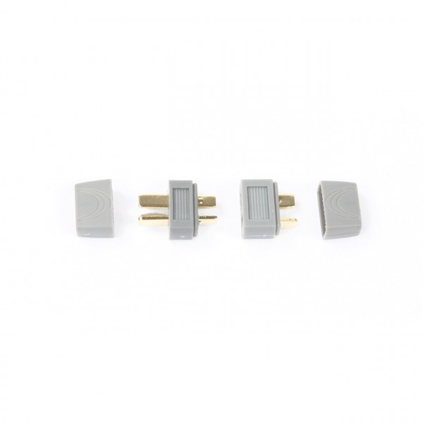 T-Stecker und Buchse (1 Paar) mit Kabelzugentlastung