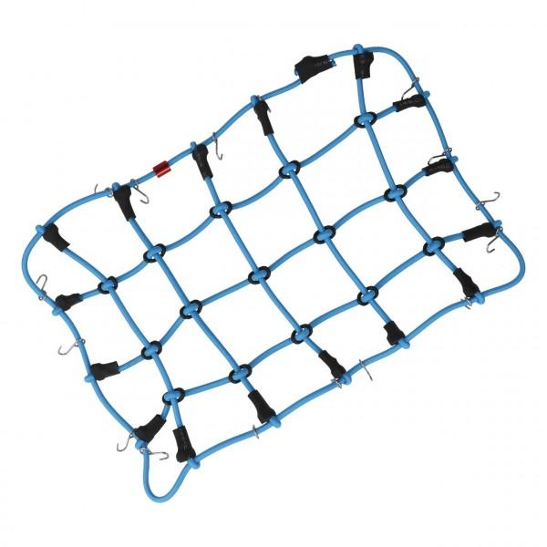 Gepäcknetz mit Haken Blau (200mm x 120mm)