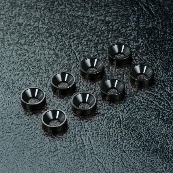 Unterlegscheibe für Senkkopf Alu schwarz (8 Stück)