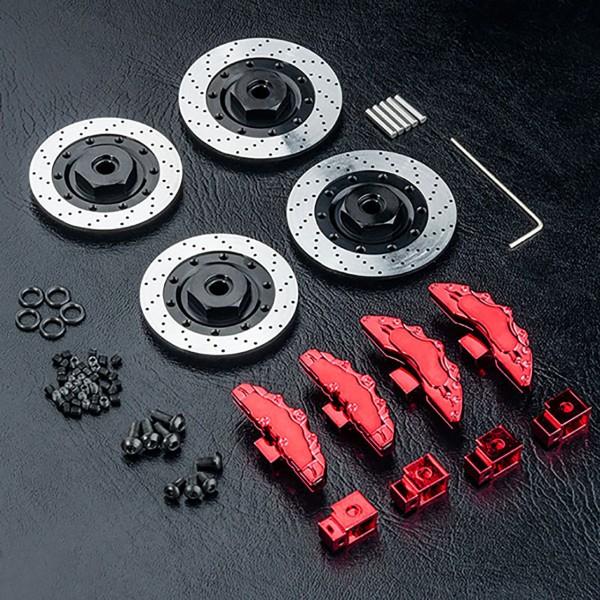 Bremsscheiben Aluminium mit Zubehör rot