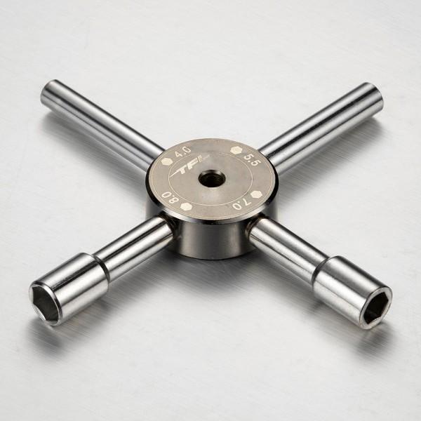 Kreuzschlüssel Aussensechskant 4,0/5,5/7,0/8,0mm