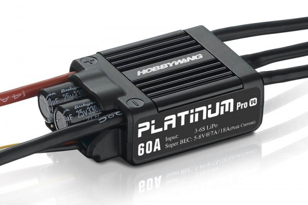 Platinum Pro 60 Regler V4 2-6s, 7A BEC