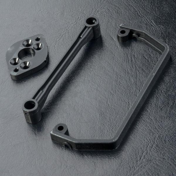 Motor adapter & body post brace