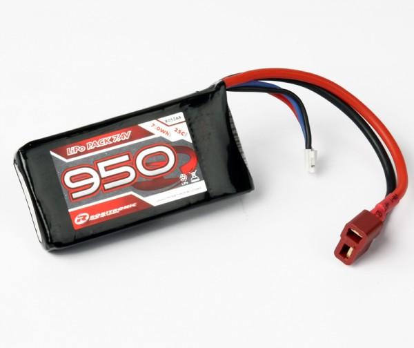 LiPo Akku 950mAh 2S 25C T-Stecker (13x35x70)